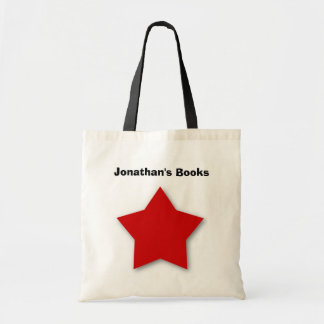 Kids Cute RED STAR Library Book Bag