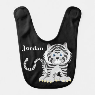 Kid's Cute White Baby Tiger Bib