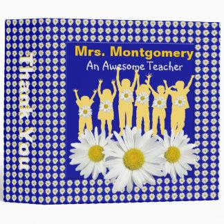 Kids Daisy Garden Teacher Thank You 2 inch Binder