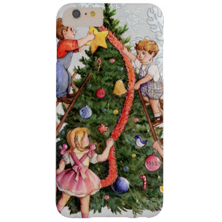 Kids Decorating Christmas Tree Barely There iPhone 6 Plus Case