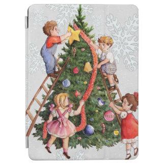 Kids Decorating Christmas Tree iPad Air Cover