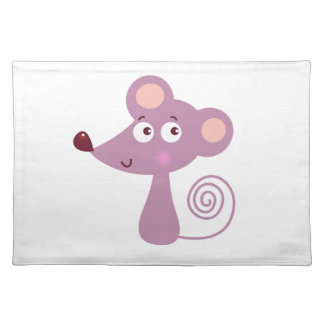 Kids design / Mouse on white Placemat