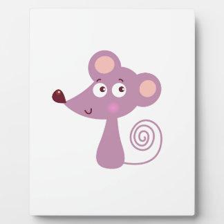 Kids design / Mouse on white Plaque