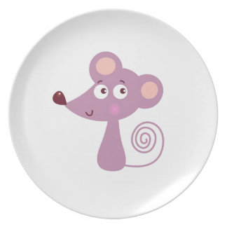 Kids design / Mouse on white Plate