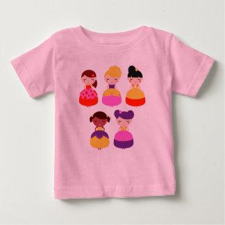Kids design t-shirt with Princess girls