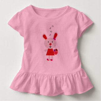 Kids design tshirt with Red bunny
