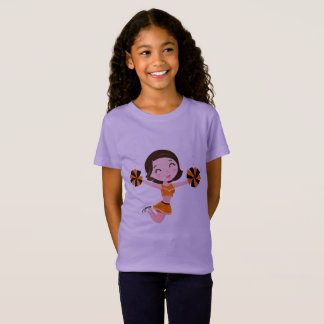 Kids designers t-shirt with Jumping girl