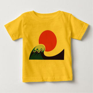 Kids designers t-shirt YELLOW With Japan wave