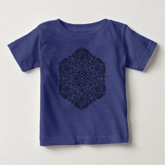 Kids designers tshirt blue with mandala