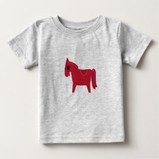 Kids designers tshirt with Horse brown