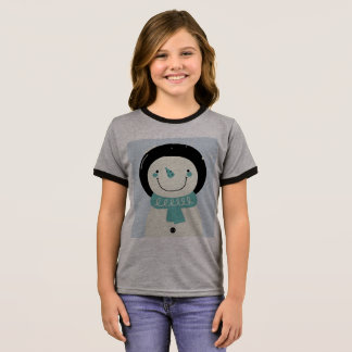 Kids designers tshirt with Snowman
