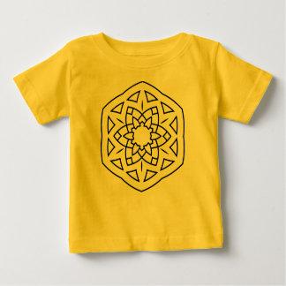 Kids designers tshirt yellow Mandala