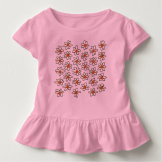 Kids designes tshirt : pink with Flowers
