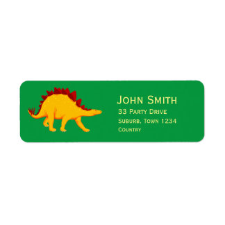 Kids dinosaur party Stegosaurus Return Address Label