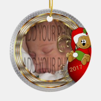 Kid's Diy Christmas Photo Ceramic Ornament