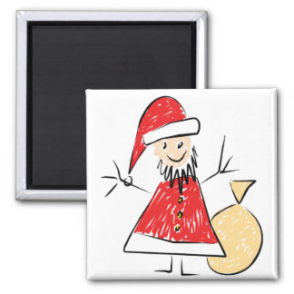 Kids Drawing of Santa Magnet for Giving