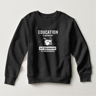 Kids drumming is importanter funny drum players gi sweatshirt