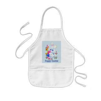 Kids Easter Bunny add name or message apron