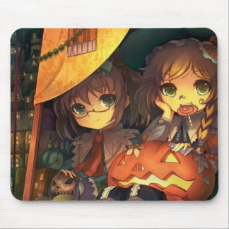 Kids Eating Candy Halloween Mouse Pad