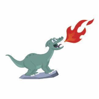 Kids Fire-Breathing Dinosaur Art by Jeff Nevins Standing Photo Sculpture