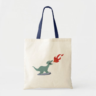 Kids Fire-Breathing Dinosaur Art by Jeff Nevins Tote Bag