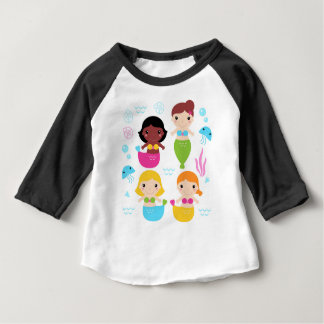 Kids  fishes design on white baby T-Shirt