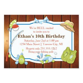 Kids Fishing Birthday Invitation