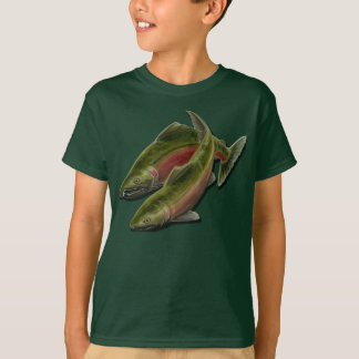 Kid's Fishing Shirts Coho Salmon Kid's T-shirts