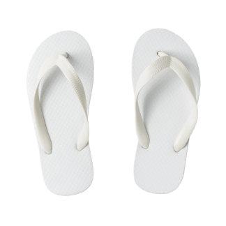 Kids Flop Flops, White Kid's Flip Flops