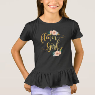Kids Flower Girl Bridesmaid Gift T-Shirt