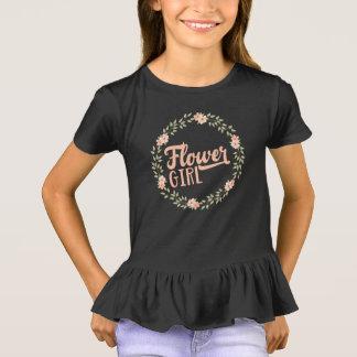 Kids Flower Girl Wreath Bridesmaid Gift T-Shirt