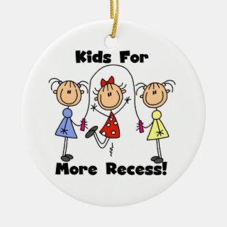 Kids For More Recess Ceramic Ornament