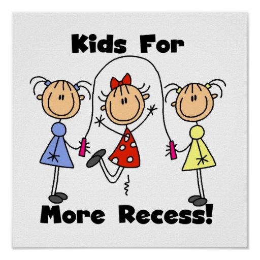 Kids For More Recess Posters