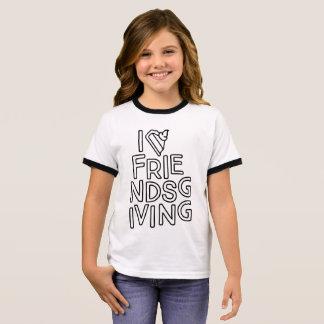 Kids Friendsgiving Ringer T-Shirt