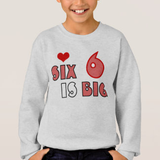Kid's funny 6 years sweat shirt HQH