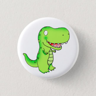 kids funny cute cartoon T-rex dinosaur 1 Inch Round Button