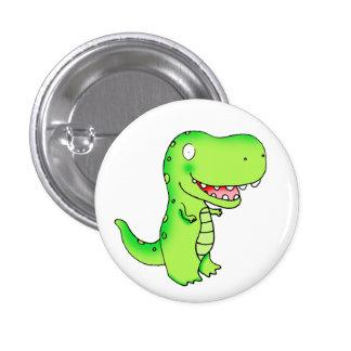 kids funny cute cartoon T-rex dinosaur 1 Inch Round Button