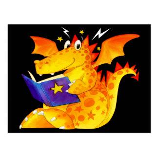 Kid's Funny Halloween Dragon Postcard