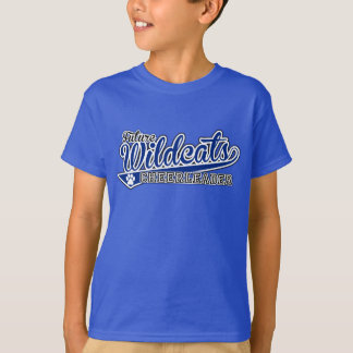 KIDS FUTURE Wildcats Cheerleader SS Royal Tee