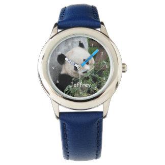 Kids Giant Panda Watch, Blue Strap Wristwatches
