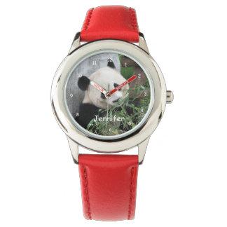 Kids Giant Panda Watch, Red Strap Watch