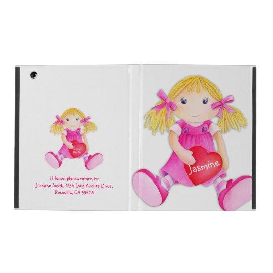 Kids girls doll name pink ipad mini powis case iPad cases