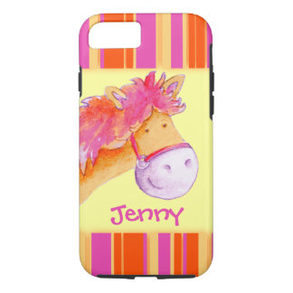 Kids girls named pony yellow iphone case