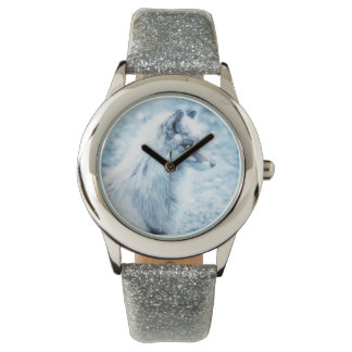 KIDS GLITTER STRAP WATCH WITH FOX
