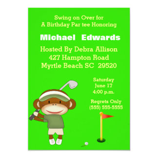 Kids Golf Birthday Invitations