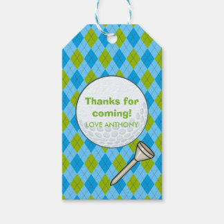 Kids Golf Theme Birthday Party Personalized Gift Tags