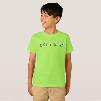 """Kids """"got life skills?"""" t-shirt"""