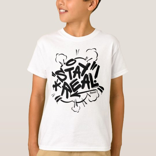 Kids Graffiti: Stay Real Streetwear T-Shirt