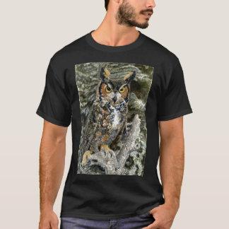 Kids Great Horned Owl Basic Dark T-Shirt