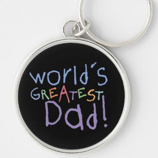 Kids Greatest Dad Keychain